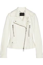 Belstaff Crewe Stretch Cotton Blend Twill Biker Jacket White