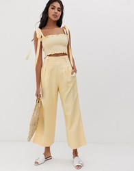 Capulet Lucy Wide Leg Trousers Yellow