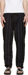 3.1 Phillip Lim Black Stripe Stitched Lounge Pants