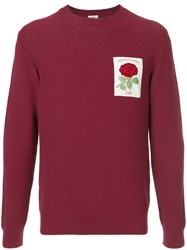 Kent And Curwen Embroidered Rose Sweatshirt