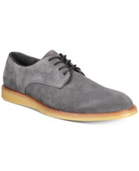 Bar Iii Henry Suede Derby Shoes Created For Macy's Shoes Grey