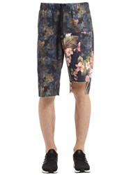 Mrkt Camo And Floral Cotton Sweat Shorts