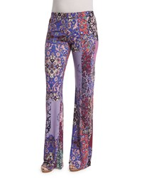 Petite Multi Print Wide Leg Pants Multi Colors Nicole Miller