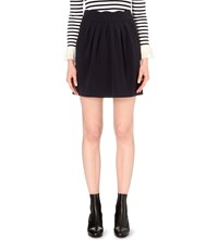 Claudie Pierlot Sylvia Pleated Jersey Skirt Marine