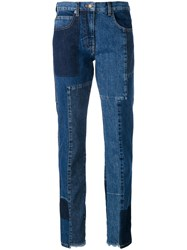 Mcq By Alexander Mcqueen 'Patti' Patchwork Jeans Women Cotton 28 Blue