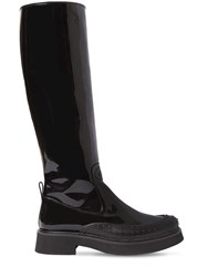 Tod's 35Mm Patent Leather Tall Boots Black