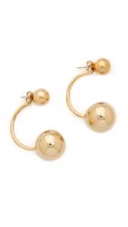 Lady Grey Double Sphere Earrings Gold