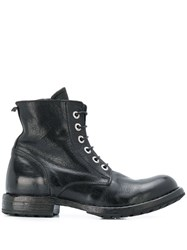 Moma Lace Up Boots Black