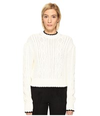 Mcq By Alexander Mcqueen Scallop Cable Crew Ivory