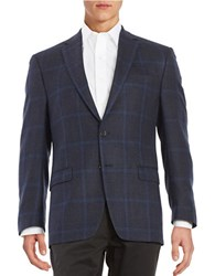 Lauren Ralph Lauren Plaid Blazer Navy