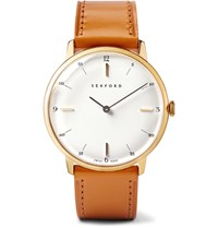 Sekford Type 1A Gold Pvd Plated Stainless Steel And Leather Watch Gold