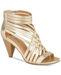Inc International Concepts Garoldd Strappy High Heel Dress Sandals Only At Macy's Women's Shoes Gold