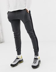 Pull And Bear Pullandbear Joggers With Side Stripe In Grey