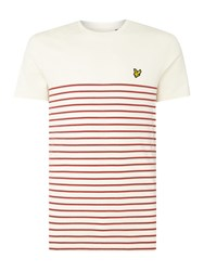 Lyle And Scott Men's Breton Crew Neck Short Sleeve T Shirt Red