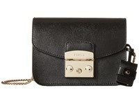 Furla Metropolis Mini Crossbody Onyx 3 Cross Body Handbags Black