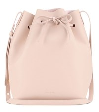 Mansur Gavriel Leather Bucket Bag Pink