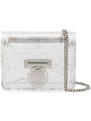 Balmain Mini Bbox Lion Shoulder Bag Silver