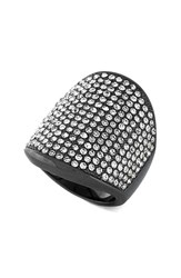 Women's Vince Camuto Pave Shield Ring Silver Hematite
