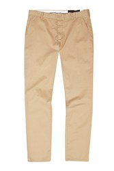 French Connection Men's Machine Gun Stretch Kr Slim Camel