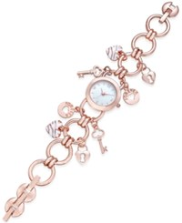 Charter Club Women's Rose Gold Tone Charm Bracelet Watch 23Mm Only At Macy's