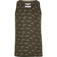 Bellfield River Island Dark Grey Printed Vest