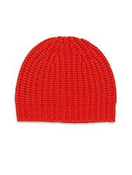Rag And Bone Cashmere Knit Beanie Red