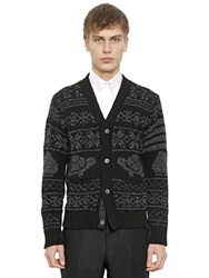Thom Browne Wool And Mohair Blend Cardigan