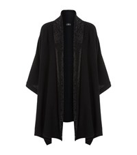 William Sharp Swarovski Crystal Shawl Cardigan Female