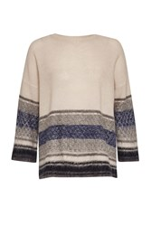 Great Plains Nordic Fairisle Cropped Jumper Blue