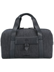Cerruti 1881 Leather Panel Holdall Blue