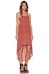 Minkpink Wild Weather Hi Lo Maxi Dress Coral