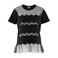 Red Valentino T Shirt With Lace Detail Nero