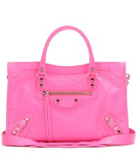 Balenciaga Classic City S Leather Tote Pink