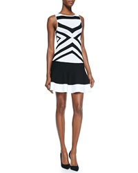 Ohne Titel Stretch Knit Banded Dress Black White
