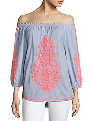Christophe Sauvat Cai Cai Cotton Top Pink