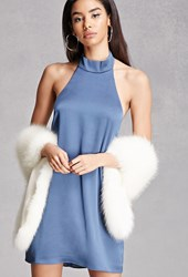Forever 21 Satin Halter Neck Dress