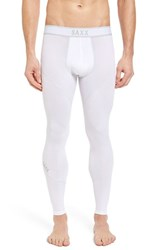 Saxx Men's 'Kinetic' Stretch Training Tights White Grey