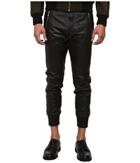 The Kooples Sport Light Smooth Leather Pants Black Men's Casual Pants