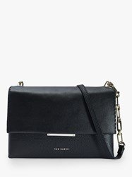 Ted Baker Bar Detail Leather Cross Body Bag Black