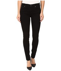 7 For All Mankind Skinny W Squiggle In Washed Overdyed Black Washed Overdyed Black Women's Jeans