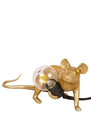 Seletti Lop Mouse Lamp Gold