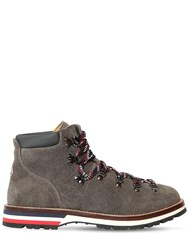 Moncler Peak Suede Lace Up Boots Charcoal