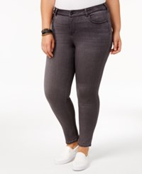 Celebrity Pink Trendy Plus Size Skinny Ankle Jeans Thunder