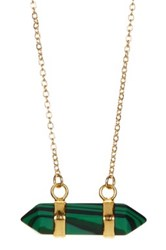Leila Malachite Double Point Necklace No Color