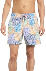 Maaji Blue Sky Reversible Swim Trunks Multicolor