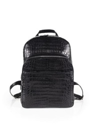 Santiago Gonzalez Crocodile Backpack Grey Black Cobalt