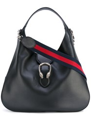 Gucci Slouch Shoulder Bag Women Calf Leather One Size Black