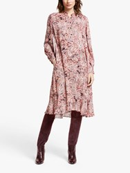 And Or Paisley Print Flare Dress Pink