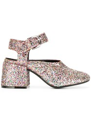 Maison Martin Margiela Mm6 Glittery Block Heel Pumps