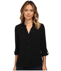 Mavi Jeans Emboidered Shirt Black Women's Clothing